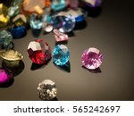 Jewel or gems on black shine...
