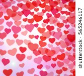 valentines day background with... | Shutterstock . vector #565246117