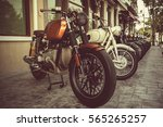 motorcycles classic tone of the ... | Shutterstock . vector #565265257