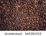Coffee Beans  Black Background