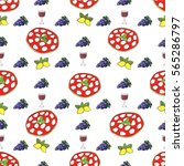seamless vector pattern.... | Shutterstock .eps vector #565286797