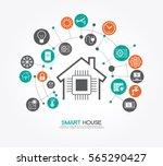 smart home control concept.... | Shutterstock .eps vector #565290427