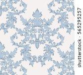 vintage baroque damask floral... | Shutterstock .eps vector #565295257