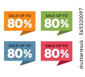 80  off. sale and discount... | Shutterstock .eps vector #565320097