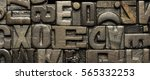 vintage wooden letterpress  | Shutterstock . vector #565332253