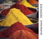 arabic spices at traditional... | Shutterstock . vector #565341523