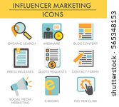 influencer marketing icon set... | Shutterstock .eps vector #565348153