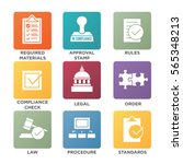 in compliance   icon set that...   Shutterstock .eps vector #565348213
