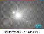 sunlight special lens flare...   Shutterstock .eps vector #565361443