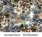 the beautiful of art fabric... | Shutterstock . vector #565363663