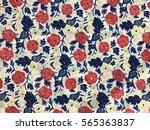 the beautiful of art fabric... | Shutterstock . vector #565363837