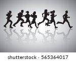 active business people run... | Shutterstock .eps vector #565364017