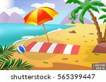 summer beach. recreation. the... | Shutterstock .eps vector #565399447