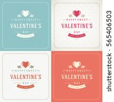 happy valentines day greeting... | Shutterstock .eps vector #565406503
