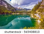 the emerald smooth surface of... | Shutterstock . vector #565408813