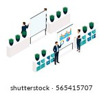 trend isometric objects 3d... | Shutterstock .eps vector #565415707