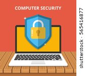 computer security concept.... | Shutterstock .eps vector #565416877