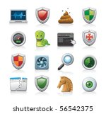 security icons | Shutterstock .eps vector #56542375