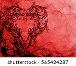 red heart lovely grunge... | Shutterstock . vector #565424287