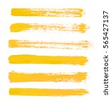 yellow vector strokes of paint... | Shutterstock .eps vector #565427137