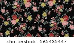 seamless floral pattern in... | Shutterstock .eps vector #565435447