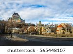 Small photo of Lower Old Town (Basse-Ville) and Frontenac Castle - Quebec City, Quebec, Canada