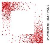 square corner red frame or... | Shutterstock .eps vector #565449373