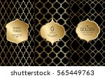golden vintage pattern on black ... | Shutterstock .eps vector #565449763