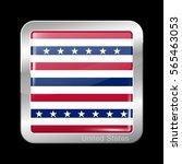 stars and stripes flag. metal... | Shutterstock .eps vector #565463053