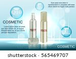exquisite cosmetic ads template ... | Shutterstock .eps vector #565469707