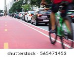 Cyclist Passing Bicycle Lane...