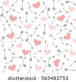 valentine arrows and pink... | Shutterstock .eps vector #565483753