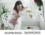 beautiful slim young caring...   Shutterstock . vector #565492903