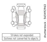 car hatchback outline drawing | Shutterstock .eps vector #565492963