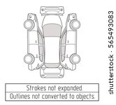car suv  form drawing outline...   Shutterstock .eps vector #565493083