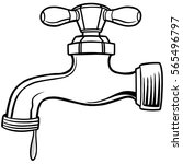 water faucet illustration   Shutterstock .eps vector #565496797