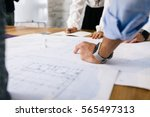 young architects  engineers... | Shutterstock . vector #565497313