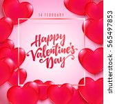 valentine day flyer | Shutterstock .eps vector #565497853