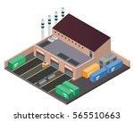 modern isometric industrial...   Shutterstock .eps vector #565510663