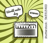 world radio day vector...   Shutterstock .eps vector #565515403