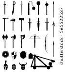 ancient battle weapons set... | Shutterstock .eps vector #565522537