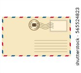 clean mail envelope with a... | Shutterstock .eps vector #565524823