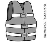 water safety jacket illustration | Shutterstock .eps vector #565527673