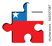 isolated piece of puzzle with...