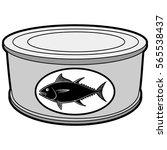 tuna can illustration | Shutterstock .eps vector #565538437