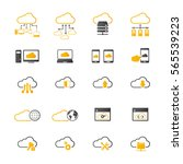 cloud computing icon set.... | Shutterstock .eps vector #565539223