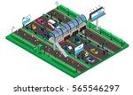 futuristic transport isometric... | Shutterstock .eps vector #565546297