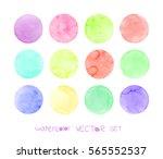 Watercolor Circles Set. ...