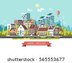 green energy and eco friendly... | Shutterstock .eps vector #565553677