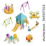 colored and isolated isometric... | Shutterstock .eps vector #565557313